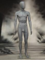 MANNEQUIN GREY MAN WITH HEAD HEAVY