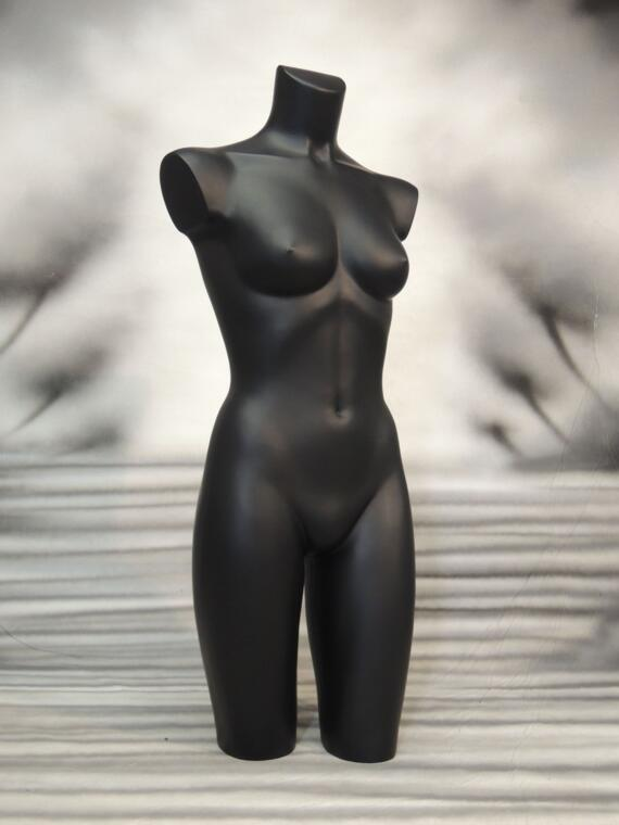 BUSTO DONNA NERA GAMBE LUNGHE